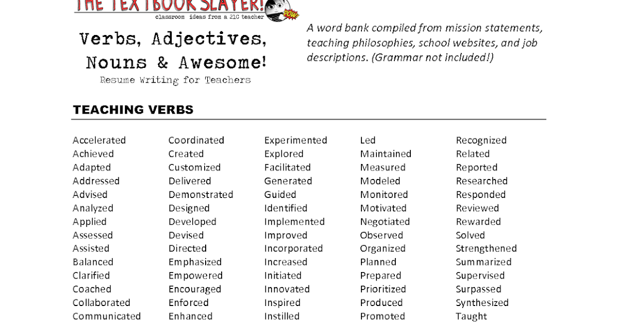 buzzwords for resumes 100 great resume buzzwords to include in ...