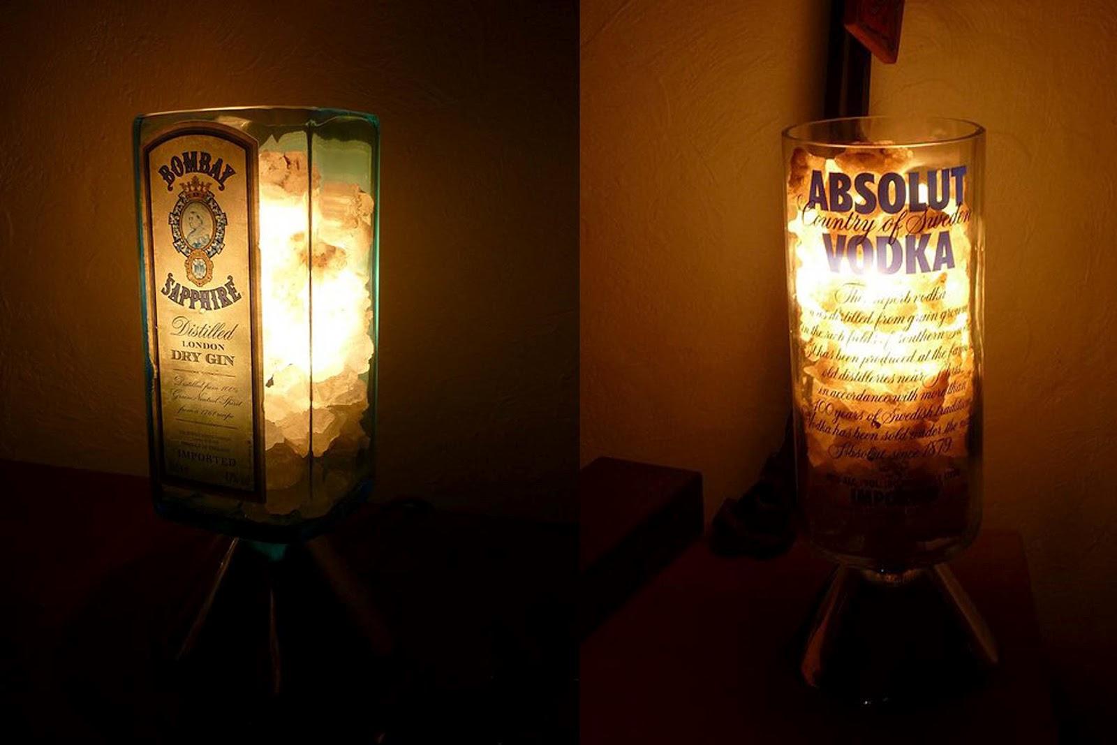Como hacer vasos y lamparas con botellas etc reciclando - Como hacer lamparas ...