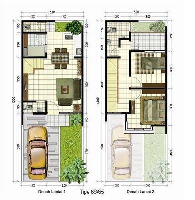 contoh denah rumah minimalis 2 lantai | desain rumah minimalis