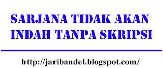 Skripsi merupakan istilah yang digunakan di Indonesia untuk mengilustrasikan suatu karya tulis ilmiah berupa paparan tulisan hasil penelitian sarjana S1 yang membahas suatu permasalahan/fenomena dalam bidang ilmu tertentu dengan menggunakan kaidah-kaidah yang berlaku. pernyataan tersebut bersumber dari wikipedia.org,
