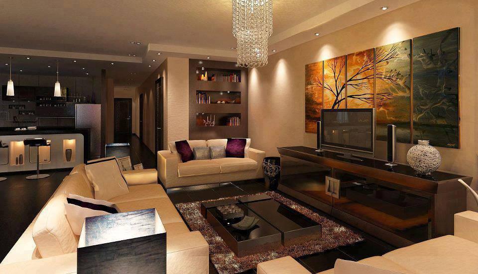 Sala De Estar Rustico Moderno ~ Moderno e rústico! Bege combinando com a cor madeira escura