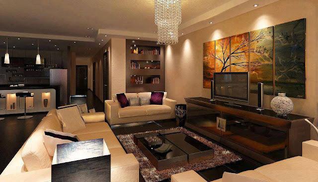 Construindo minha casa clean ambientes com bege super for Sala de estar rustica y moderna