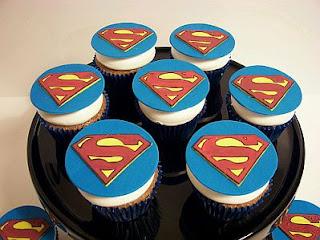 Cupcakes de Superman para Fiestas Infantiles