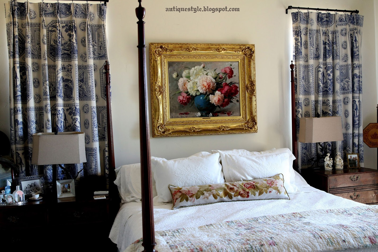 Decorating With Antiques antique style: decorating with antiques in a bedroom