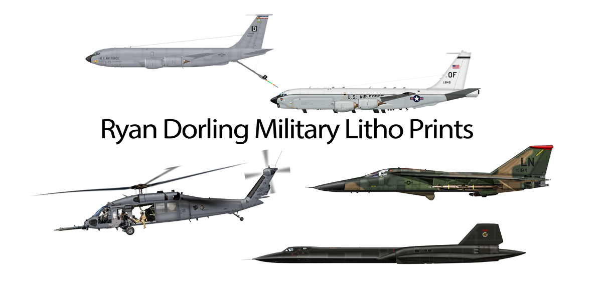 Ryan Dorling Military Litho Prints