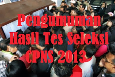 para Peserta tes CPNS 2013 bisa melihat pengumuman di situs resmi Kemenpan-RB.