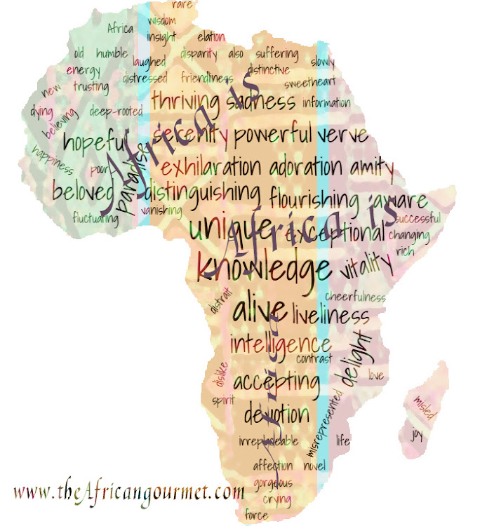 Africa map of words