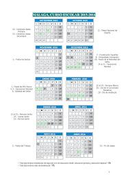 Calendario Escolar 2015-16                                                             MÁLAGA