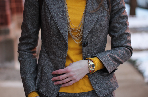 StyleSidebar - Mustard, Tweed, Gold