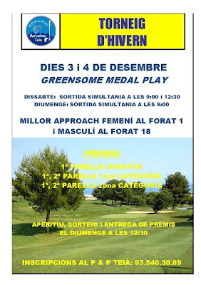 Teia Pitch and Putt Torneig Greensome