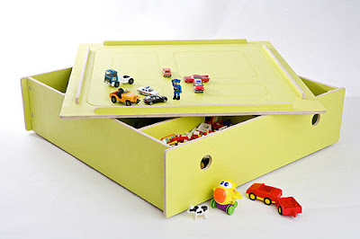 under-bed storage box - flip lid to create play table