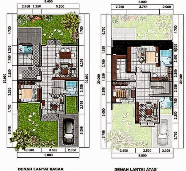 Gambar Denah Rumah   Desain Denah Rumah Desain Rumah Minimalis