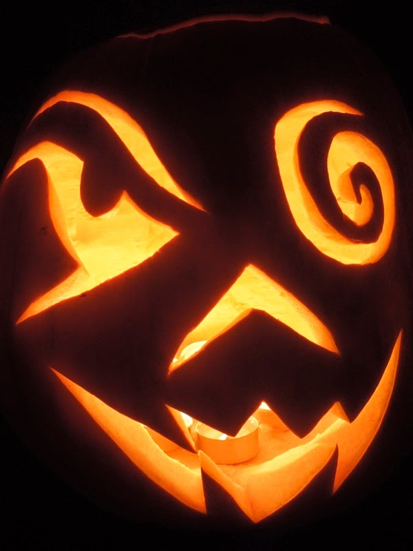 Carved Halloween pumpkin