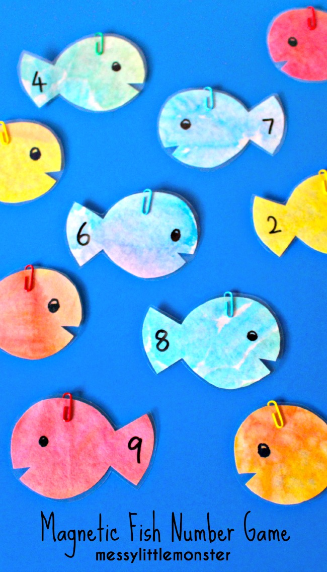 Magnetic fishing number game messy little monster for The fish game