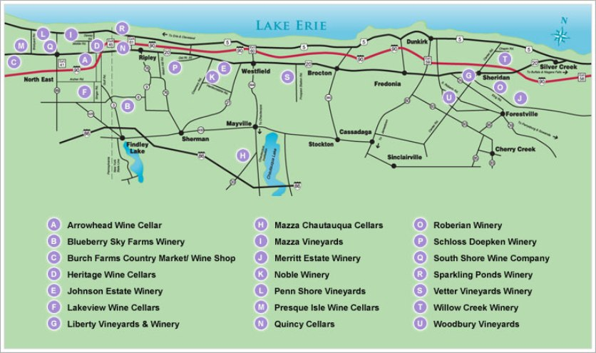 East Coast Wineries The Observer Interstate Lake Erie Wine Tourism