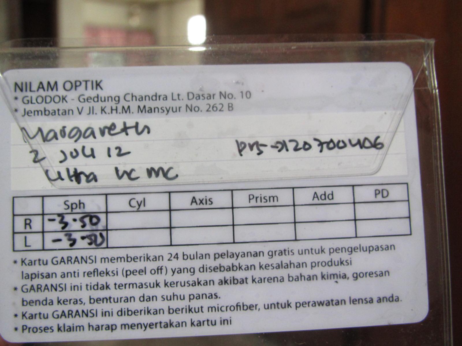 Kacamata 3 4 Jt By Kwitansi Optik Toko Software Bali