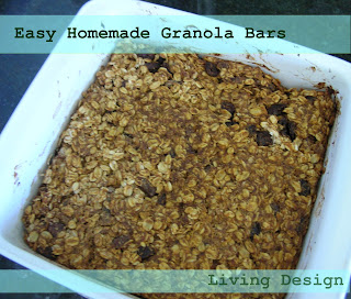 Living Design: Easy Homemade Granola Bars