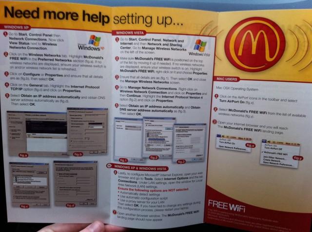 Propaganda involuntária da Apple no McDonald's