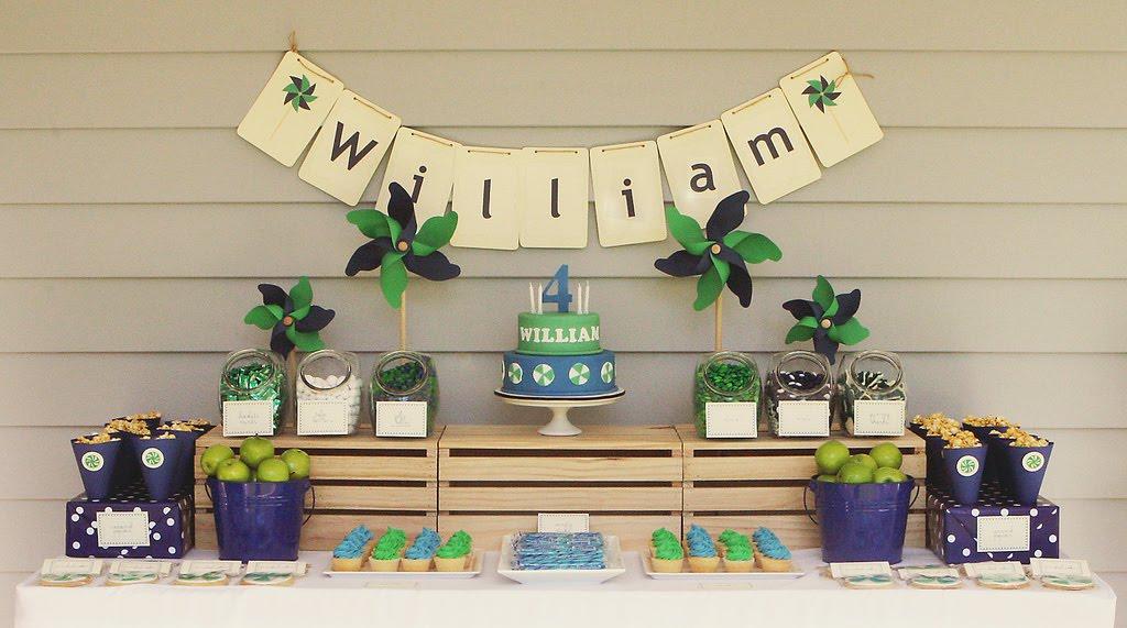 Idéias para decoração de festa de aniversário simples: Pipas e