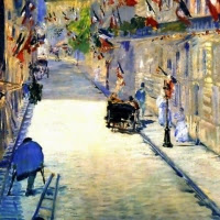 'Carrer Mosnier decorat amb banderes (Édouard Manet)'