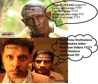 tamil funny engineering college student jokes of santhanam vikram