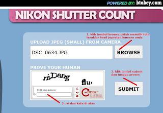 cara cek shutter count kamera dslr Nikon D3100