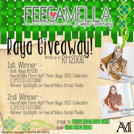 FeecaMella Raya Giveaway