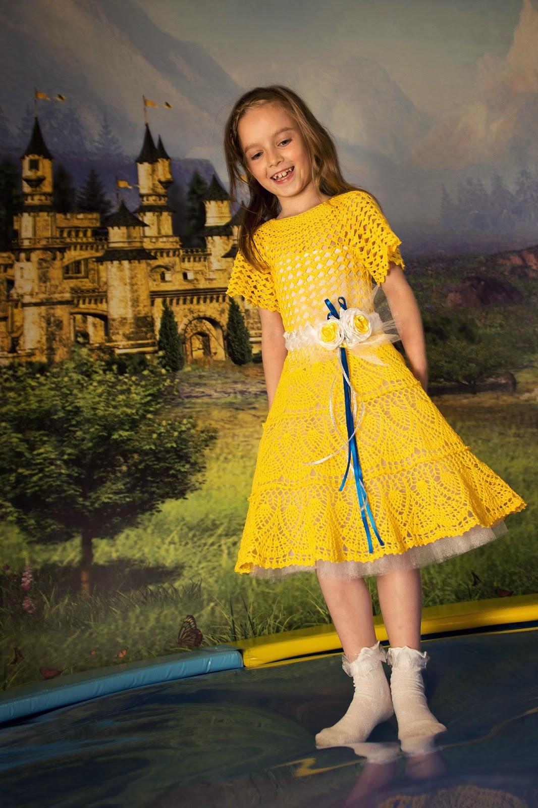 платье крючком на девочку