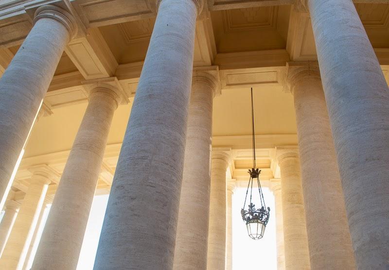 roman columns of the vatican city