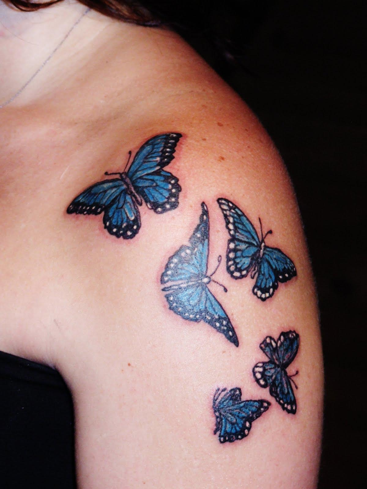 butterfly tattoos3d tattoos. Black Bedroom Furniture Sets. Home Design Ideas