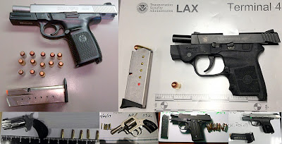 (Top to Bottom / L-R) Guns Discovered at BNA, LAX, CLT, FLL, FLL, RDU
