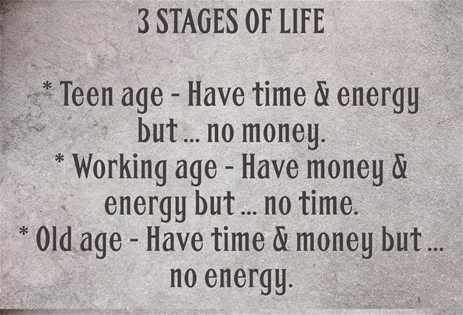 Ba giai đoạn cuộc đời