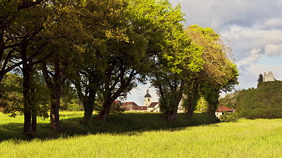 Photo of the rural landscape around Chaumont village in Haute Savoie