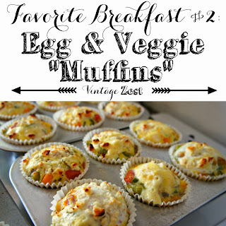 Favorite Breakfast #2: Egg and Veggie Muffins