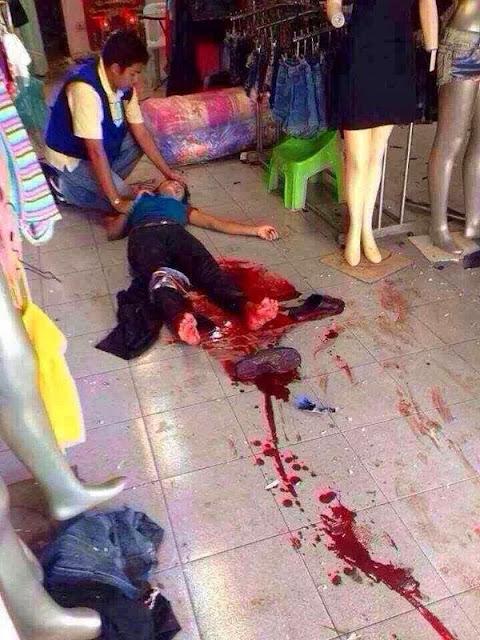 GAMBAR DASYAT LETUPAN BOM DI DANOK THAILAND