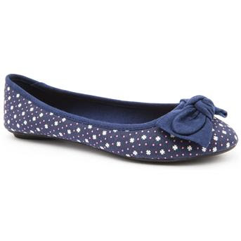Emilia Luca X blue ballet flats with bow