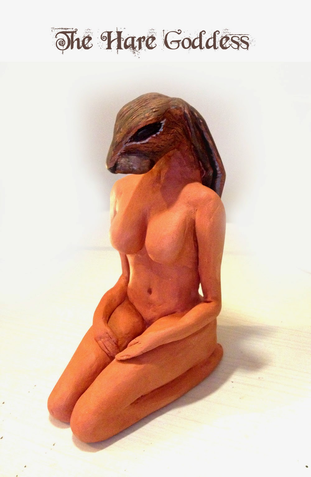 The Hare Goddess Sculpture from MoonsCrafts