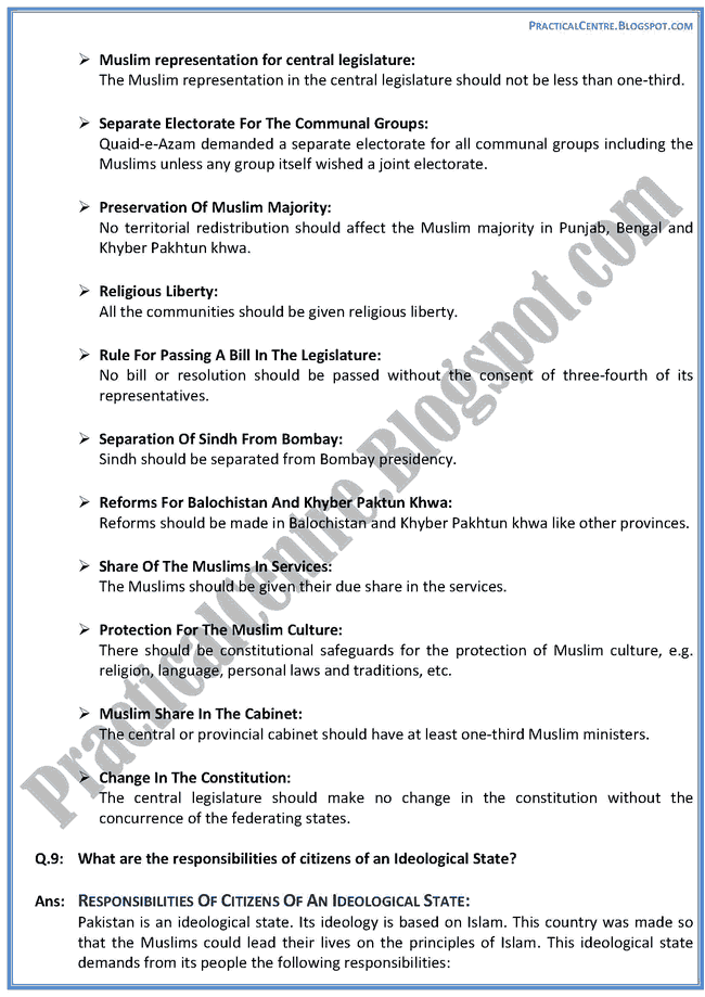 making-of-pakistan-descriptive-question-answers-pakistan-studies-9th