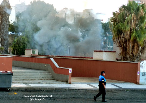 Incendio barrio la paterna, caseta antiguas pistas de tenis