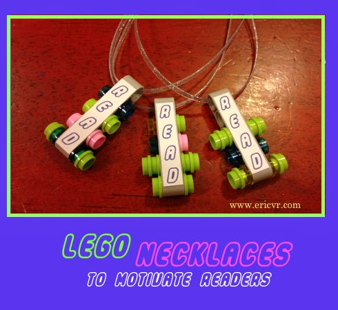 LEGO jewelry necklaces to motivate readers via ericvr.com