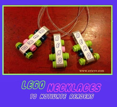 LEGO jewelry necklaces to motivate readers via ericvr.com