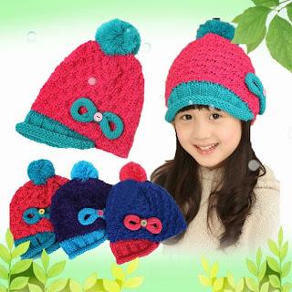 mũ len kiểu hàn quốc cho bé gái