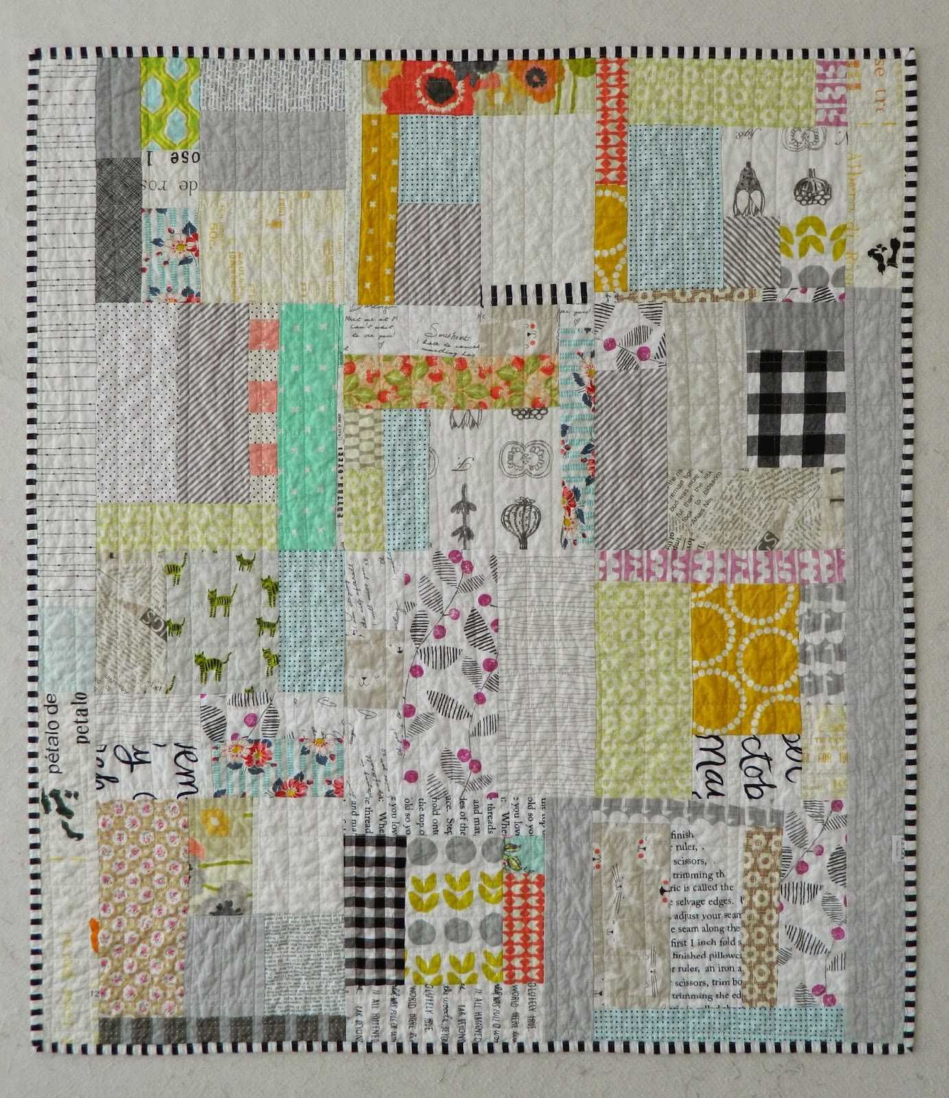 S o t a k handmade quiet scrap eater all finished for Scrap quilt