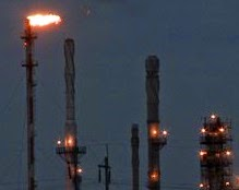 Flare gas pada suatu kilang minyak
