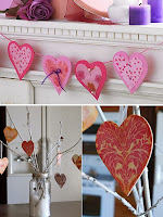 Украса сърца от хартия за Свети Валентин