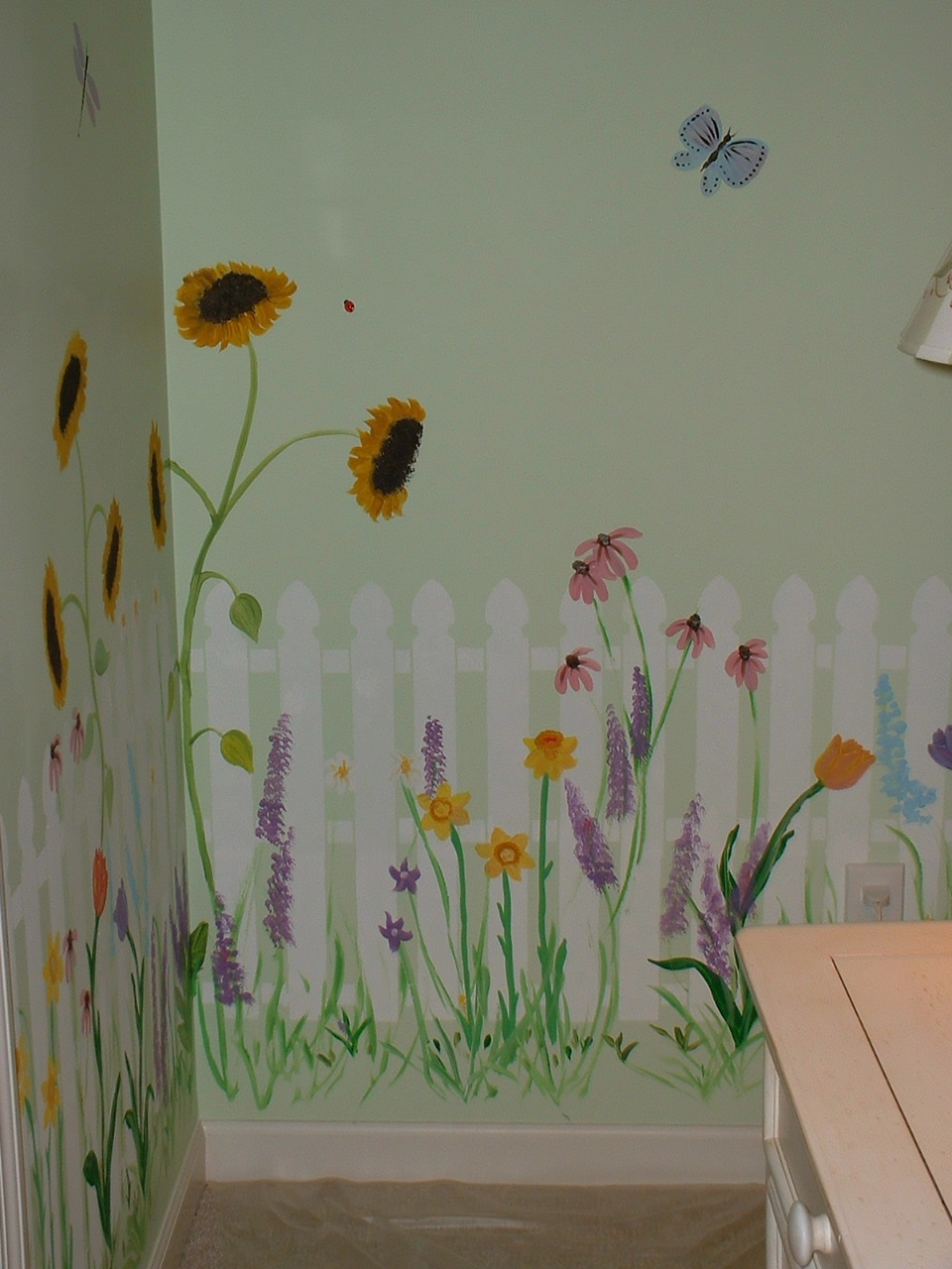 Empty nest in the midwest porch wish list Mural of flowers