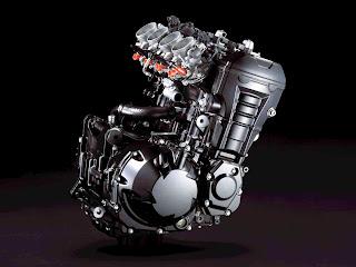 enjin 4 silinder, in-line 4, kawasaki z800, naked bike