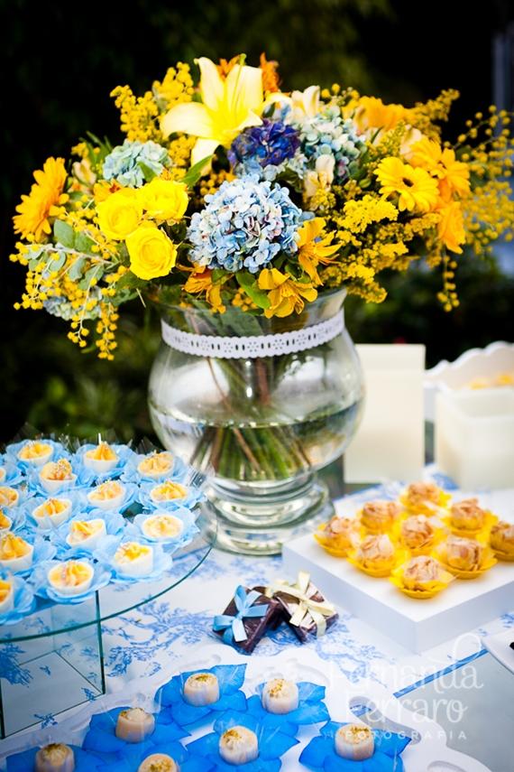decoracao de festa azul marinho e amarelo:de decoração azul e amarela para casamento que selecionamos para