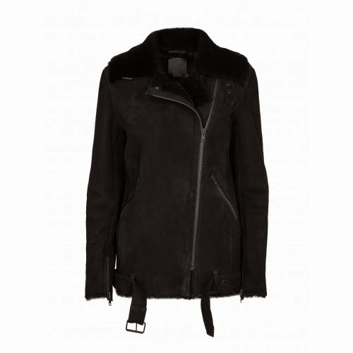Chin Shearling Jacket Just Female Walk-in Closet OSLO