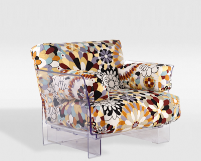 cadeira floral base acrílica